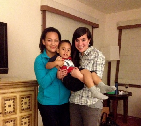 (Elanie with her asylum clients from Honduras)