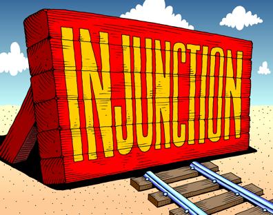 B.injunction