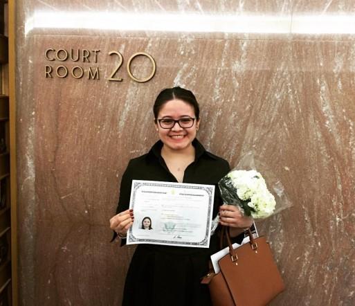 Naya after becoming a U.S. citizen.